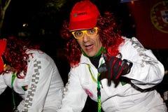 18 2012年狂欢节2月参与者 免版税图库摄影