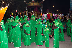18 2012 karnevalfebruari deltagare Royaltyfri Fotografi