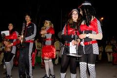 18 2012 karnevalfebruari deltagare Fotografering för Bildbyråer