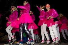 18 2012 karnevalfebruari deltagare Arkivfoton