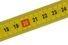 18 24 cm detaljmåttband till Fotografering för Bildbyråer