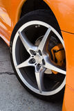 18. Rim on a hyper tuned '98 Mitsubishi Eclipse stock images