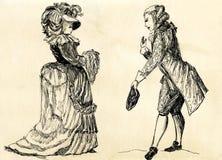 18 århundrade älskarekvinna Royaltyfria Bilder