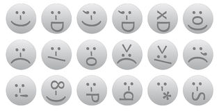 18 ascii smileys Stock Photos