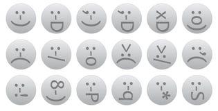 18 ascii smileys. 18 letterpress-styled ascii vector smileys vector illustration