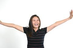 18 asiatiska attraktiva flickabarn Arkivfoto