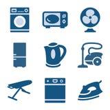 18 błękit ikony set Fotografia Stock