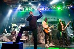18 Boedapest-november: De band van Winterborn presteert op B Royalty-vrije Stock Afbeeldingen