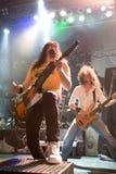 18 Boedapest-november: De band van Winterborn presteert op B Stock Fotografie