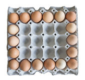 18 eggs in carton Royalty Free Stock Photography