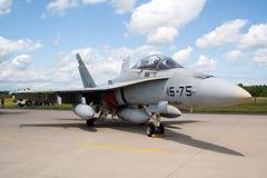 18 f大黄蜂喷气机 库存照片