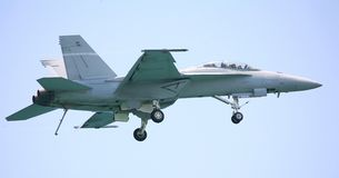 двигатель шершня самолет-истребителя 18 f Стоковые Изображения RF