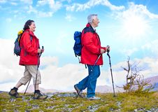 18 hiking старшиев стоковые фотографии rf