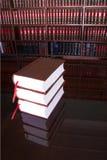 18 lagliga böcker Fotografering för Bildbyråer