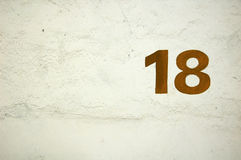 18 liczb Fotografia Stock