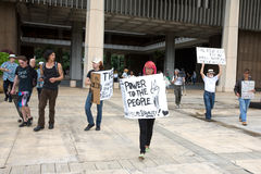 18 upptar anti apec honolulu protest Arkivfoton