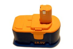 18 Volt Batterie Stockbilder