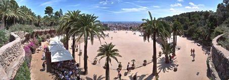 180巴塞罗那guel公园视图 库存照片