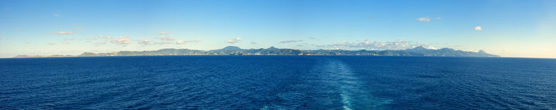 180 degree panorama of st lucia Stock Images