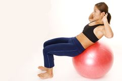 180 Fitball Crunch 2 Stock Photo