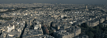 180 Panaromic Paris Stock Photo