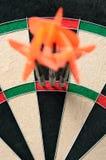 180 score. On dart board Stock Photos
