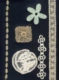 1800 merletti & bordi fragili Fotografie Stock Libere da Diritti