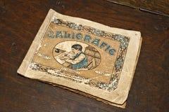 1800 Roemeens kalligrafiehandboek Stock Fotografie