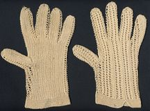 1800's antique gloves royalty free stock photo