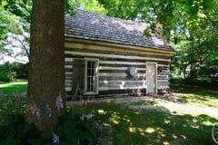 1800's Bowen Family Cabin. In Delphi, Indiana Stock Photo