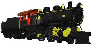 1800's Steam Locomotive with coal car Royalty Free Stock Photo