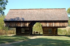 1800s Cantilever Barn Stock Photography