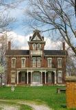 1800s históricos del hogar del ladrillo Foto de archivo