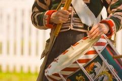 1812年关于战争的鼓手制定 图库摄影