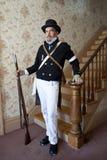 1812 of Burgeroorlog Reenactor royalty-vrije stock foto's