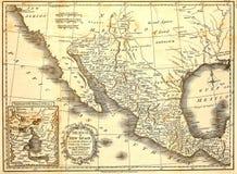 1821 mapa Meksyk Fotografia Royalty Free