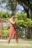 1834年毛利人仪式的问候 库存照片