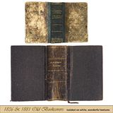 1836 1881 gammala bookcovers royaltyfria foton