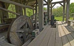 1837年约翰锯木厂木头 库存照片