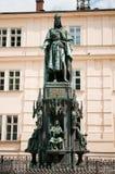 1848年查尔斯iv布拉格雕象 库存照片