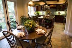 1854年厨房用桌 库存照片