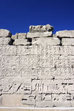 186 Wall of relief in Egypt Stock Photography