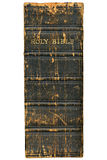 1868 Victorian bible spine isolated over white. Royalty Free Stock Images
