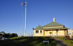 1875年澳洲楼c村庄灯塔 图库摄影