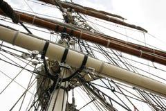 1877年elissa帆柱索具 免版税库存图片