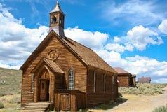 1880 de kerk van de spookstad Stock Afbeeldingen