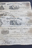 1880s Briten fünf Pfund-Anmerkungen Stockfoto