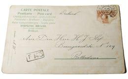 1881年明信片葡萄酒 库存照片