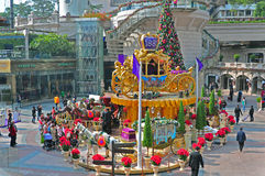 1881 christmas decoration. Tourists gather around christmas decoration at the 1881 complex in tsim sha tsui, hong kong Royalty Free Stock Photography