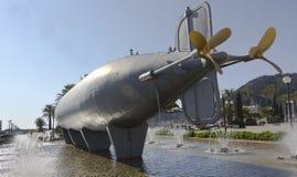 1888 byggde den historiska isaac peral ubåten Arkivbild